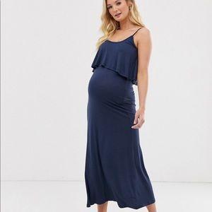 NWT New Look Maternity (ASOS) maxi dress - navy